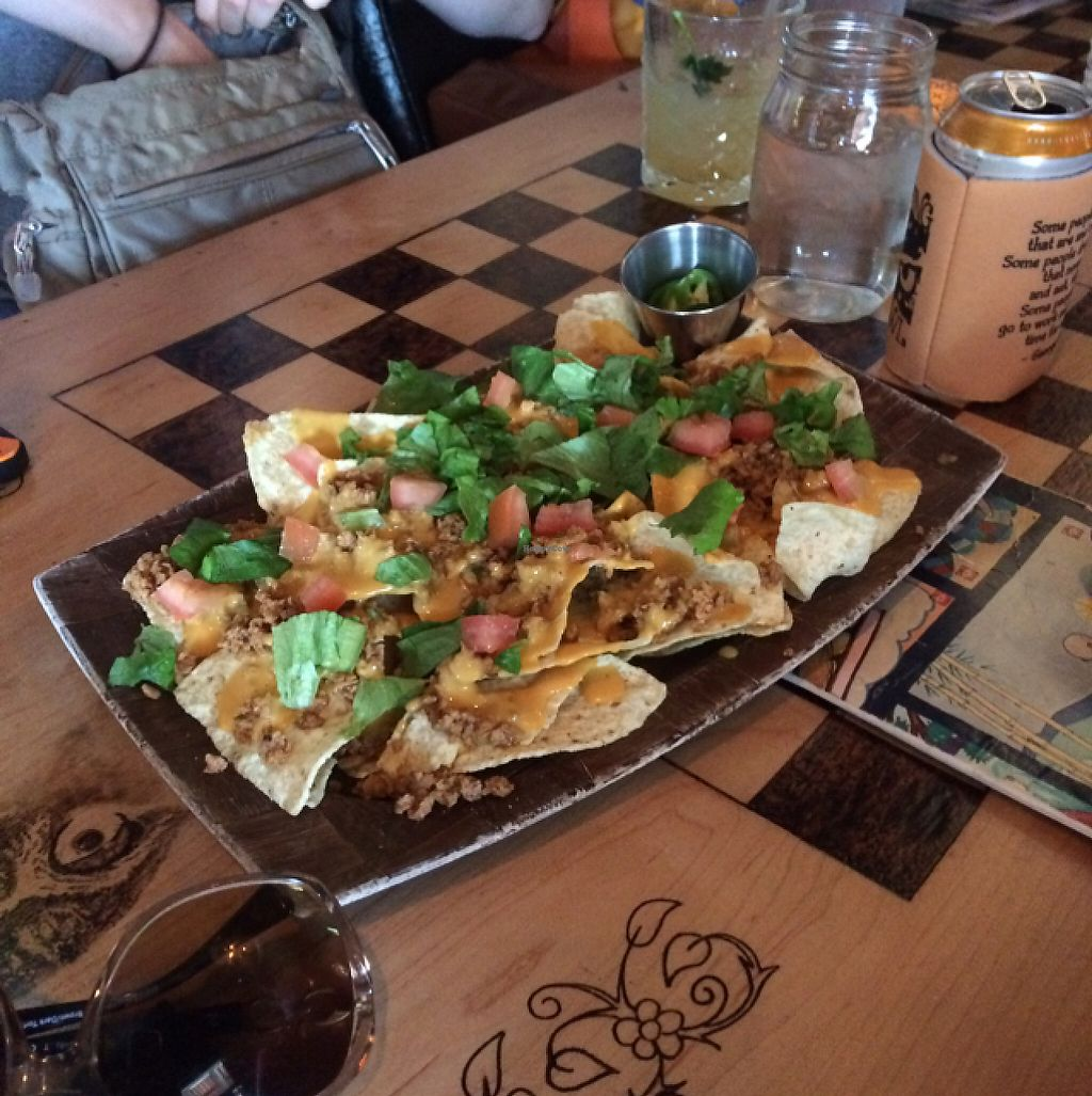 """Photo of The Burrowing Owl Lounge  by <a href=""""/members/profile/giant%20bunnie"""">giant bunnie</a> <br/>vegan nachos!!!! <br/> May 16, 2017  - <a href='/contact/abuse/image/59373/259188'>Report</a>"""