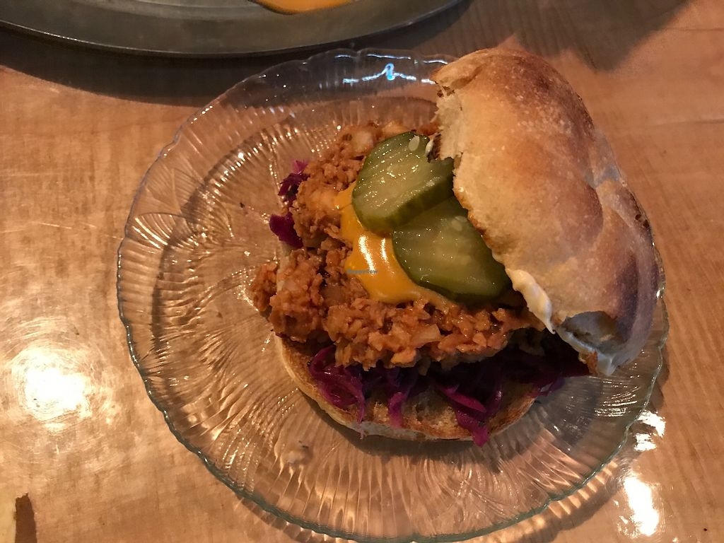 """Photo of The Burrowing Owl Lounge  by <a href=""""/members/profile/Remerson13"""">Remerson13</a> <br/>Vegan Sloppy Joe <br/> July 7, 2017  - <a href='/contact/abuse/image/59373/277523'>Report</a>"""