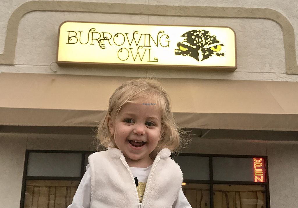 """Photo of The Burrowing Owl Lounge  by <a href=""""/members/profile/Remerson13"""">Remerson13</a> <br/>Our Vegan Baby loved it!!! <br/> July 7, 2017  - <a href='/contact/abuse/image/59373/277526'>Report</a>"""