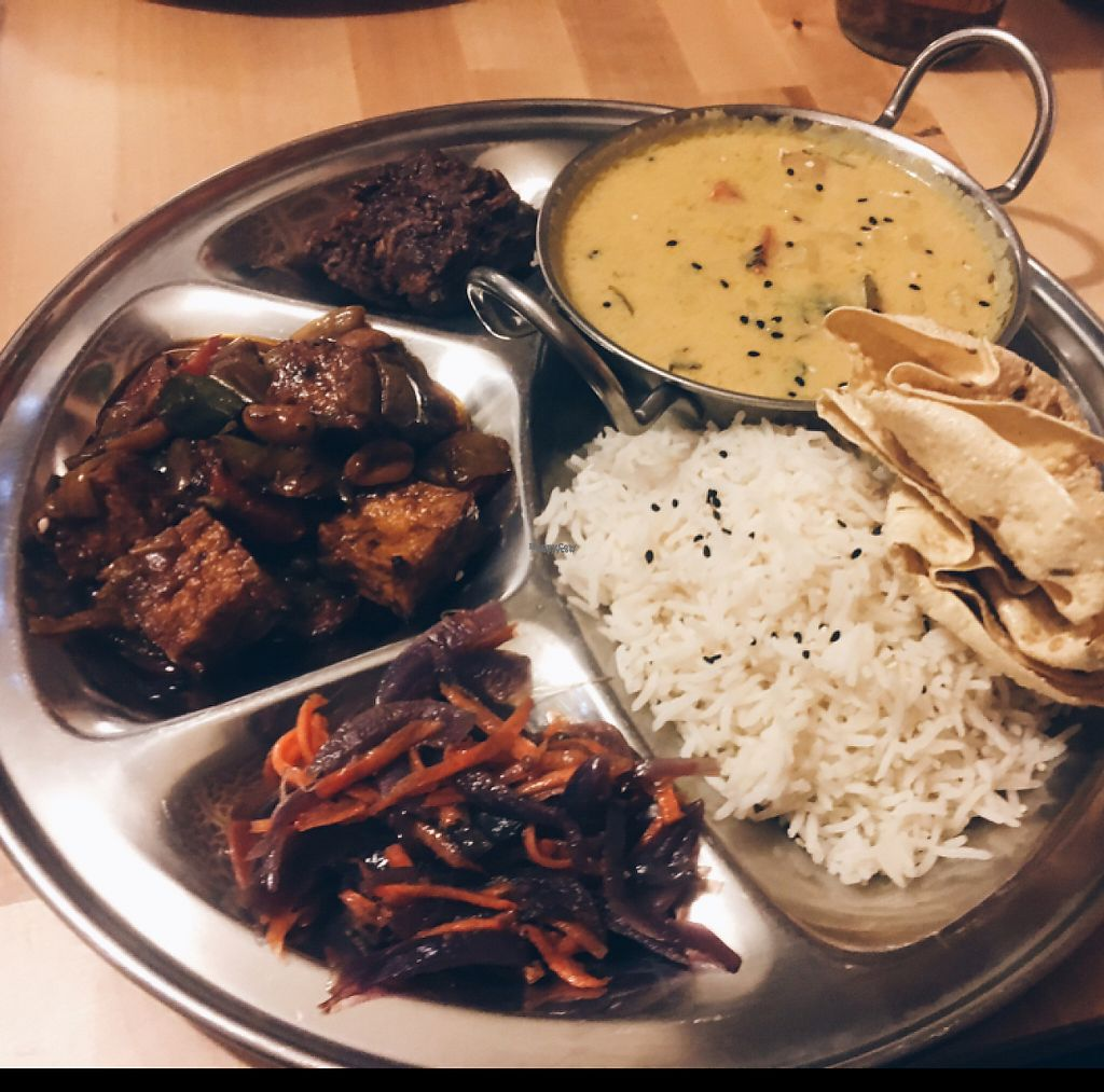 "Photo of Ahimsa Vegan Restaurant and Club  by <a href=""/members/profile/matterandrew"">matterandrew</a> <br/>Thali! <br/> March 20, 2017  - <a href='/contact/abuse/image/59379/238950'>Report</a>"