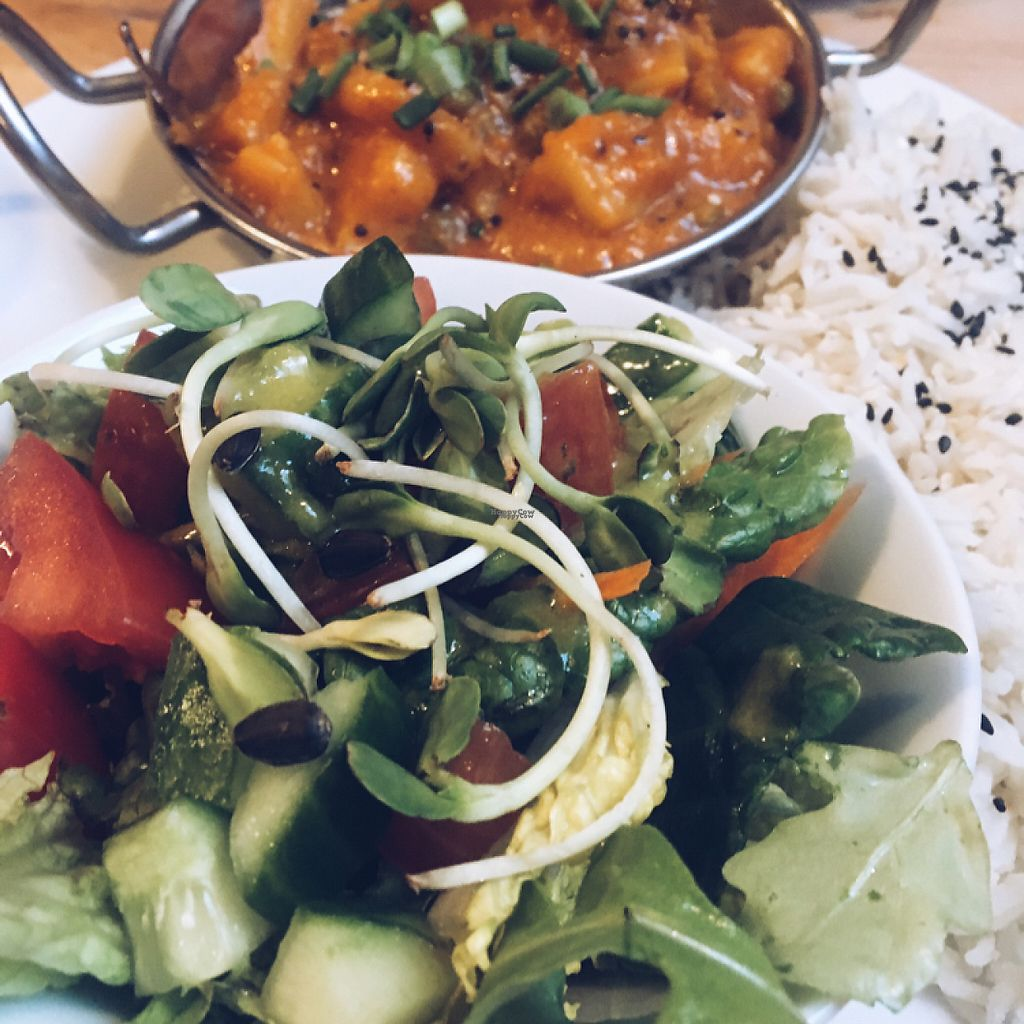 "Photo of Ahimsa Vegan Restaurant and Club  by <a href=""/members/profile/KatiaApanova"">KatiaApanova</a> <br/>Indian food  <br/> April 17, 2017  - <a href='/contact/abuse/image/59379/249472'>Report</a>"