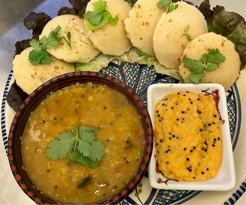 "Photo of Ahimsa Vegan Restaurant and Club  by <a href=""/members/profile/HimanshuPatel"">HimanshuPatel</a> <br/>idli sambar <br/> April 2, 2018  - <a href='/contact/abuse/image/59379/379760'>Report</a>"