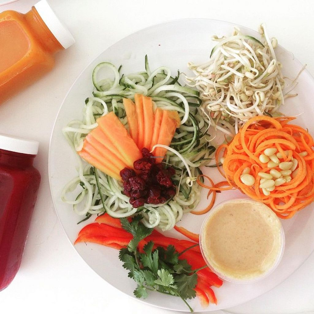 """Photo of Joga  by <a href=""""/members/profile/JogaSxm"""">JogaSxm</a> <br/>Raw Vegan Zucchini and Carrot Noodles with Fresh Cold Pressed Juices <br/> June 13, 2015  - <a href='/contact/abuse/image/59384/105783'>Report</a>"""