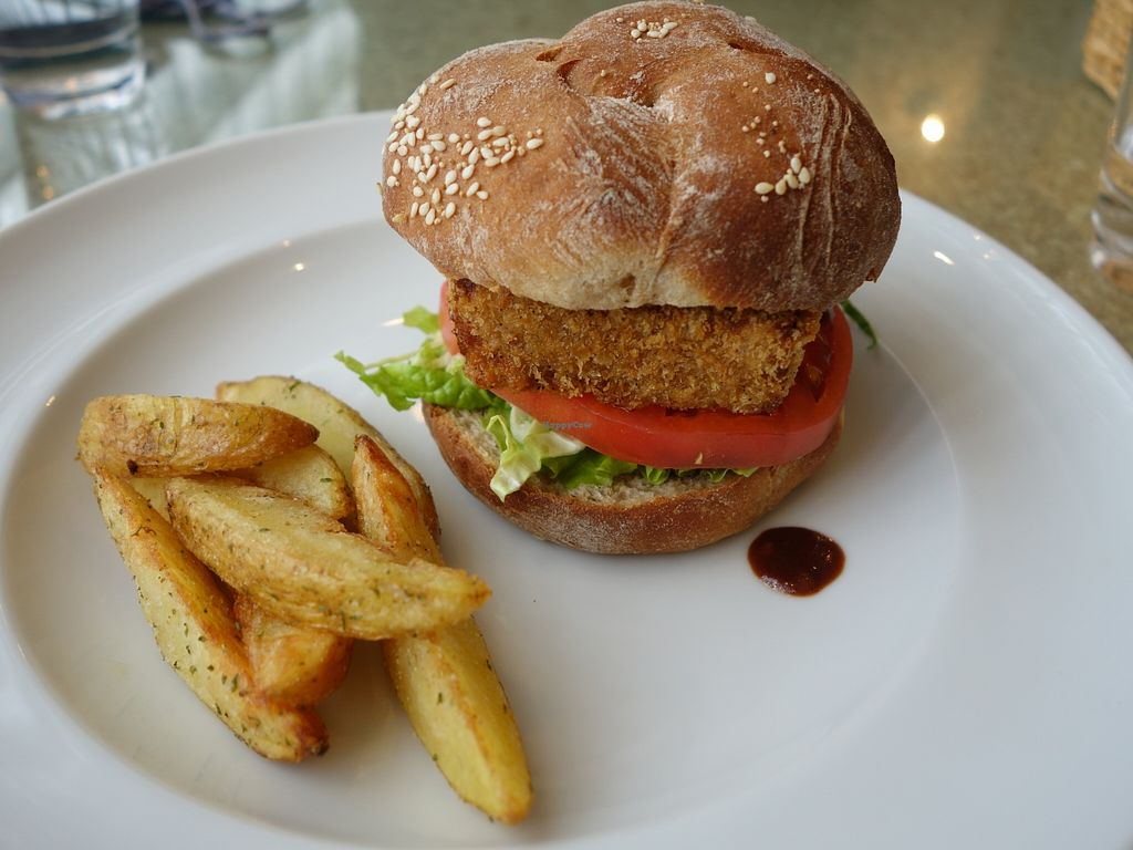 """Photo of DevaDeva Cafe  by <a href=""""/members/profile/NinomaeJyuuichi"""">NinomaeJyuuichi</a> <br/>Katsu burger with fried potato. No flavour <br/> April 9, 2016  - <a href='/contact/abuse/image/5939/143694'>Report</a>"""