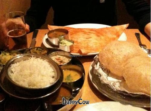 """Photo of Sagar  by <a href=""""/members/profile/inkiuk"""">inkiuk</a> <br/>Masala Dosa and Thali - yum <br/> January 28, 2013  - <a href='/contact/abuse/image/5940/43437'>Report</a>"""