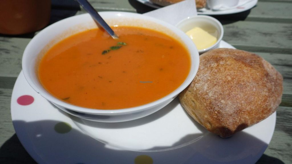 "Photo of Apple Tree Cafe  by <a href=""/members/profile/deadpledge"">deadpledge</a> <br/>Soup of the day - Tomato soup and fresh sour dough <br/> June 15, 2015  - <a href='/contact/abuse/image/59431/106039'>Report</a>"