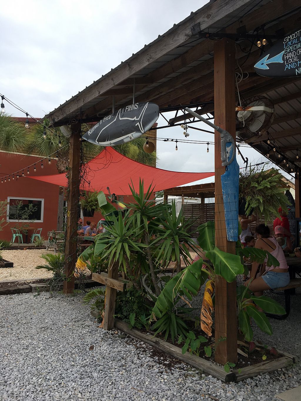 "Photo of Finn's Island Style Grub  by <a href=""/members/profile/Kirstinaureal"">Kirstinaureal</a> <br/>part of the seating area outside  <br/> July 29, 2017  - <a href='/contact/abuse/image/59446/286345'>Report</a>"