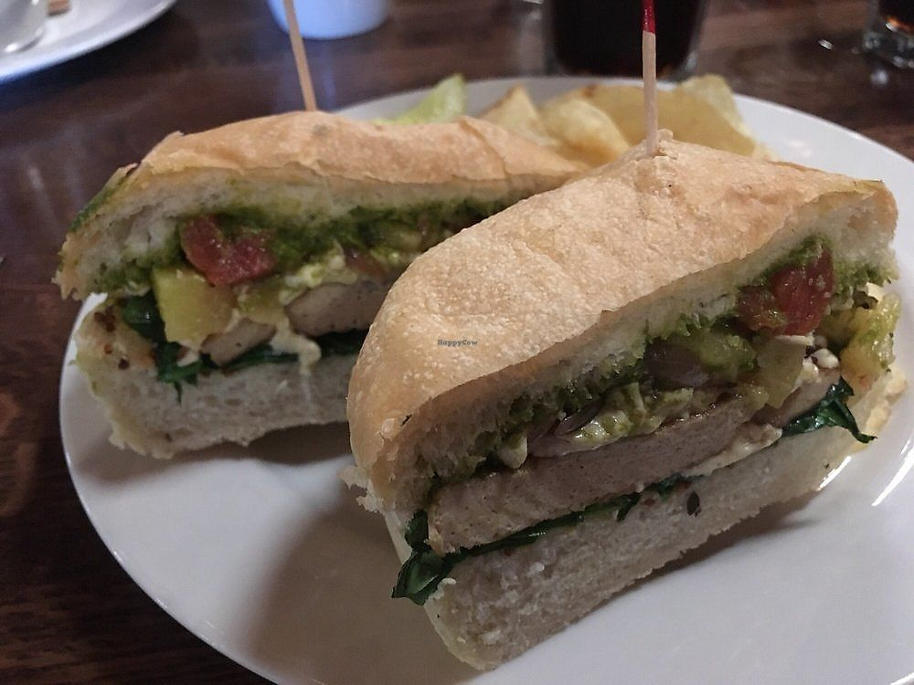 """Photo of The Tomato Head - Gallery Shopping Ctr  by <a href=""""/members/profile/AlexandraPhillips"""">AlexandraPhillips</a> <br/>Kepner melt with vegan pesto and vegan cheese! Yum!! <br/> October 11, 2017  - <a href='/contact/abuse/image/59461/314344'>Report</a>"""
