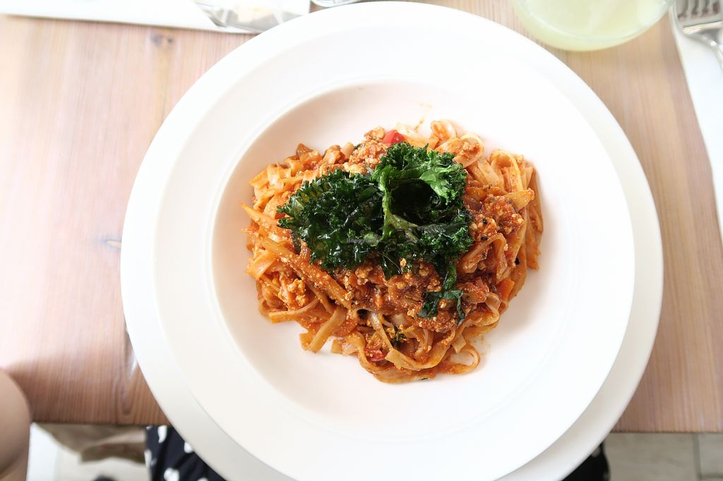 Photo of Think Love Juices & Vegan Food  by JenniferHamilton <br/>The best dish I've ever had in my entire life has been this exact tofu spaghetti <br/> April 25, 2016  - <a href='/contact/abuse/image/59473/146260'>Report</a>