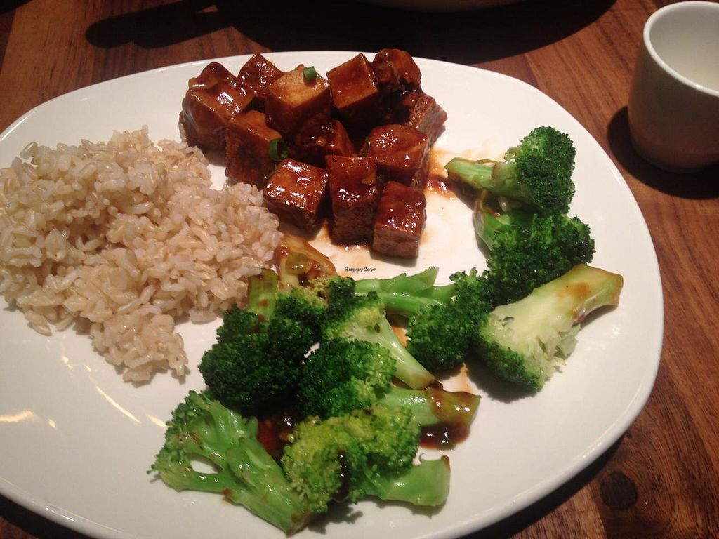 """Photo of P.F. Chang's  by <a href=""""/members/profile/Kimxula"""">Kimxula</a> <br/>mapo tofu, brown rice and broccoli  <br/> June 18, 2015  - <a href='/contact/abuse/image/59503/106373'>Report</a>"""