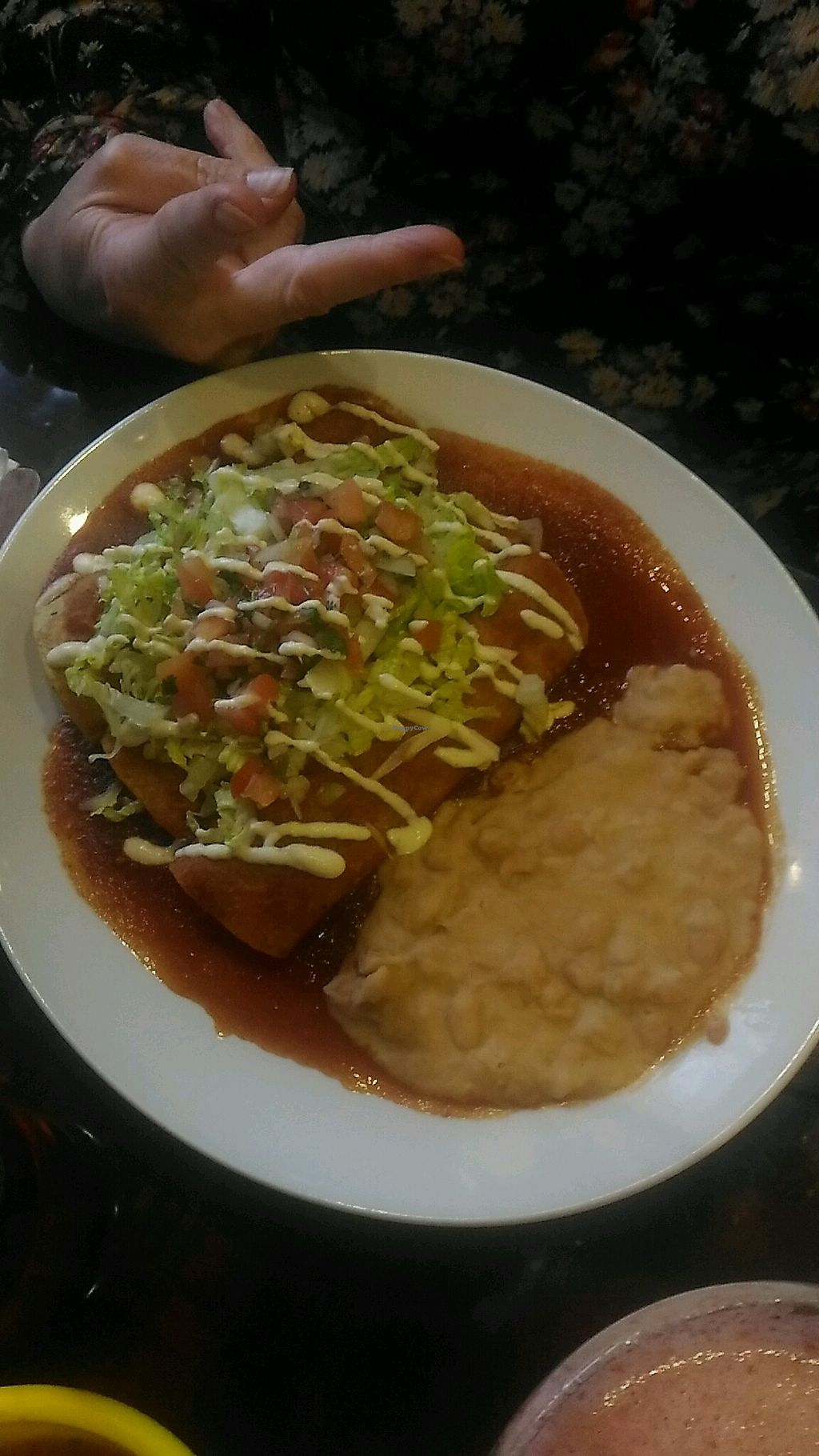 "Photo of Pancho's Kitchen  by <a href=""/members/profile/QuothTheRaven"">QuothTheRaven</a> <br/>vegan enchiladas <br/> March 26, 2018  - <a href='/contact/abuse/image/59571/376549'>Report</a>"
