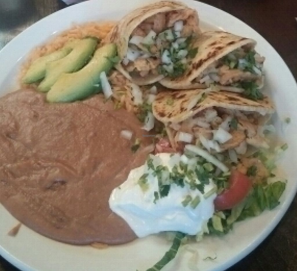 "Photo of Los Gorditos - Pearl District  by <a href=""/members/profile/ALee1990"">ALee1990</a> <br/>Vegan garbage burrito and gorditas with soy curls and tofutti sour cream! yummmm!!!  <br/> July 28, 2016  - <a href='/contact/abuse/image/59572/220557'>Report</a>"