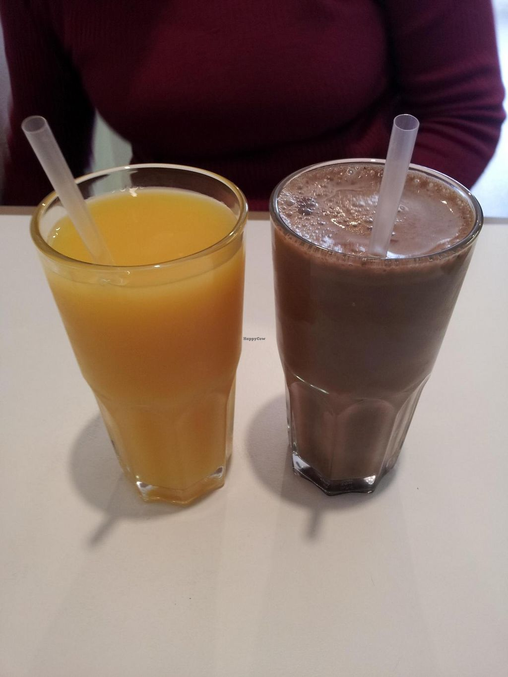 """Photo of Michelle's Cafe  by <a href=""""/members/profile/necius"""">necius</a> <br/>Orange Juice and Chocolate Almond Milk at Michelle's Café.  <br/> June 18, 2015  - <a href='/contact/abuse/image/59578/106488'>Report</a>"""