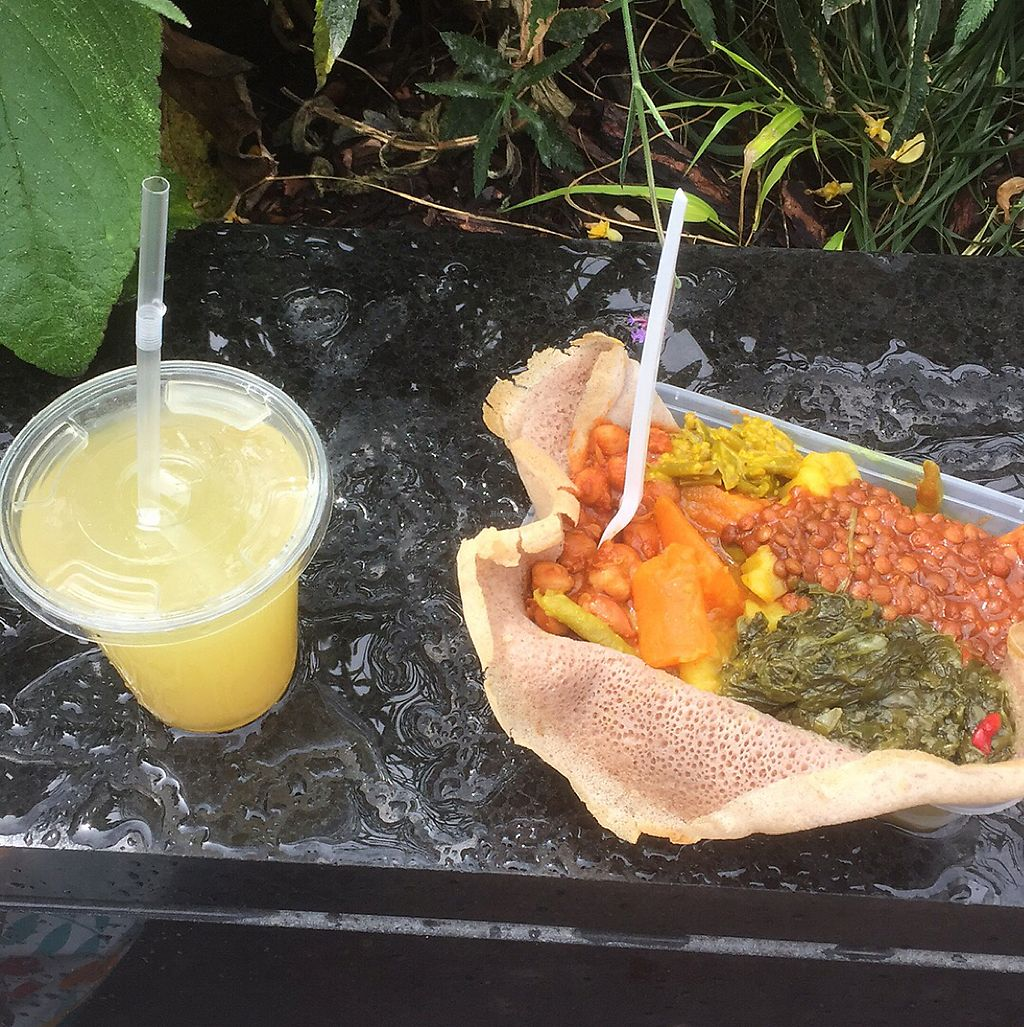 """Photo of Ethiopian Vegetarian Food Stall  by <a href=""""/members/profile/RobertW"""">RobertW</a> <br/>Ethiopian vegan food <br/> June 7, 2017  - <a href='/contact/abuse/image/59602/266589'>Report</a>"""
