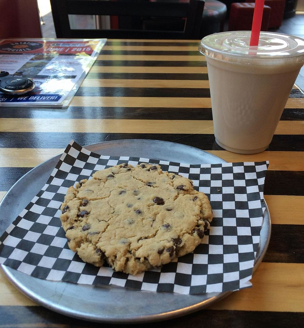 "Photo of Rude Boy Cookies  by <a href=""/members/profile/ASomerville"">ASomerville</a> <br/>The chocolate chip cookie and a glass of almond milk <br/> June 20, 2015  - <a href='/contact/abuse/image/59610/209158'>Report</a>"