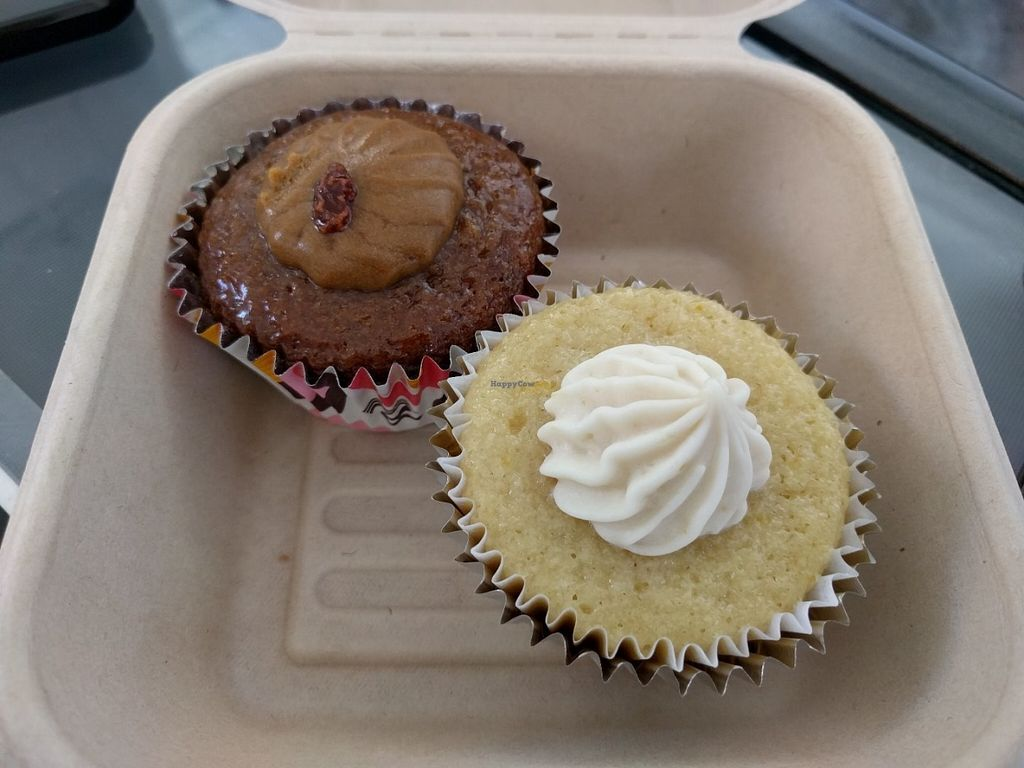 """Photo of Equelecua Cuban Cafe  by <a href=""""/members/profile/Sonja%20and%20Dirk"""">Sonja and Dirk</a> <br/>rum raisin and lemon cupcakes <br/> July 26, 2016  - <a href='/contact/abuse/image/59617/162539'>Report</a>"""