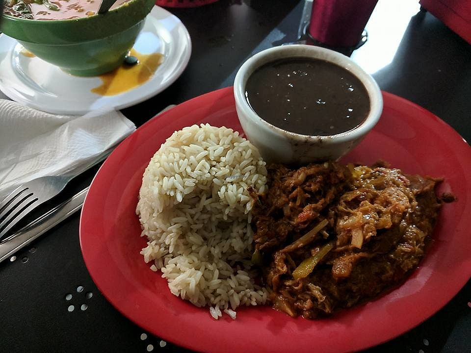 """Photo of Equelecua Cuban Cafe  by <a href=""""/members/profile/zenmaestro"""">zenmaestro</a> <br/>Ropa Vieja. i suggest subbing tostones, plantain or yucca for rice <br/> November 10, 2017  - <a href='/contact/abuse/image/59617/323832'>Report</a>"""