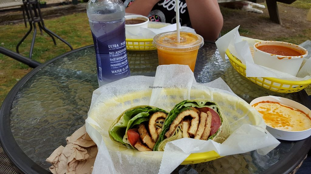 """Photo of Crescent Cafe Juice Bar  by <a href=""""/members/profile/IceColdIce"""">IceColdIce</a> <br/>Bean soup, tomato soup and TLT (tofu, lettuce, tomato) <br/> May 15, 2016  - <a href='/contact/abuse/image/59682/149036'>Report</a>"""