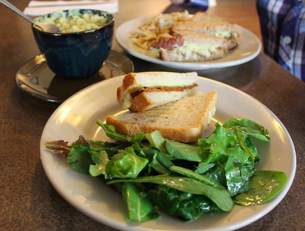"""Photo of Vtopia Cheese Shop and Deli  by <a href=""""/members/profile/Raesock"""">Raesock</a> <br/>ham and cheese melt with salad.  <br/> November 30, 2015  - <a href='/contact/abuse/image/59803/220601'>Report</a>"""