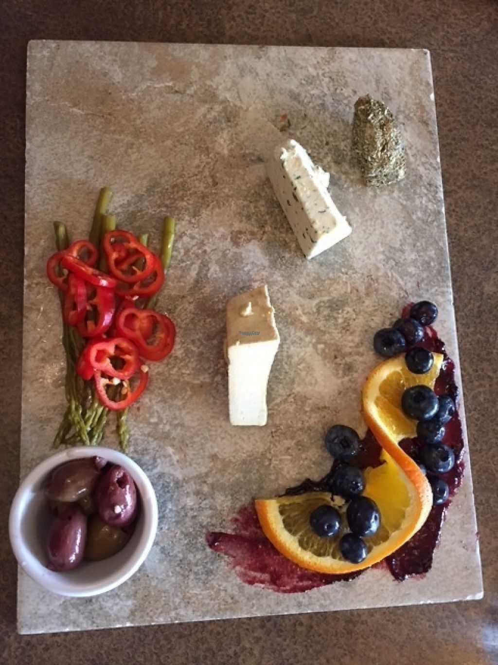"""Photo of Vtopia Cheese Shop and Deli  by <a href=""""/members/profile/veggiewoman"""">veggiewoman</a> <br/>Vegan cheese platter at Vtopia.   <br/> March 13, 2017  - <a href='/contact/abuse/image/59803/235931'>Report</a>"""