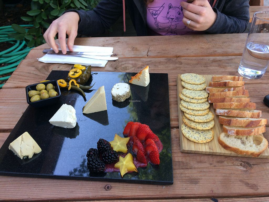 """Photo of Vtopia Cheese Shop and Deli  by <a href=""""/members/profile/giant%20bunnie"""">giant bunnie</a> <br/>Vegan cheese plate <br/> September 26, 2017  - <a href='/contact/abuse/image/59803/308744'>Report</a>"""