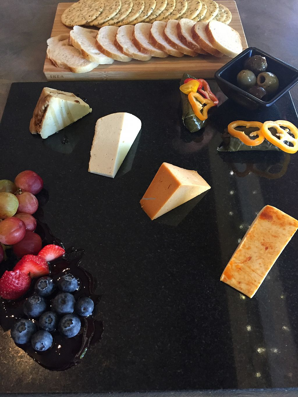 """Photo of Vtopia Cheese Shop and Deli  by <a href=""""/members/profile/TheVeganNarwhal"""">TheVeganNarwhal</a> <br/>Cheese platter <br/> February 12, 2018  - <a href='/contact/abuse/image/59803/358241'>Report</a>"""