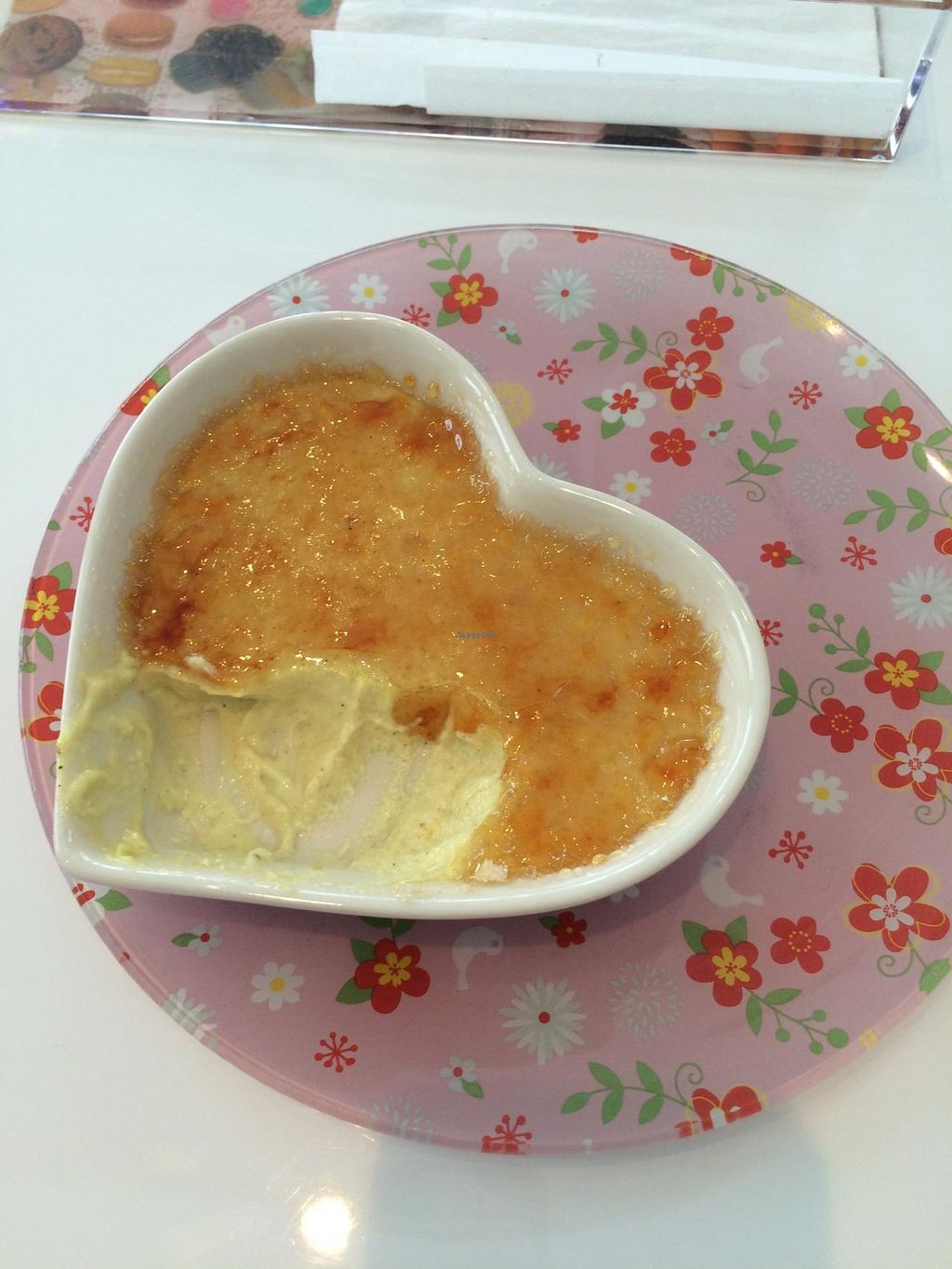 "Photo of CLOSED: Gourmet Neko Cafe  by <a href=""/members/profile/thepianowindow"">thepianowindow</a> <br/>Creme brulee at グルメ猫カフェ <br/> July 4, 2015  - <a href='/contact/abuse/image/59840/108174'>Report</a>"