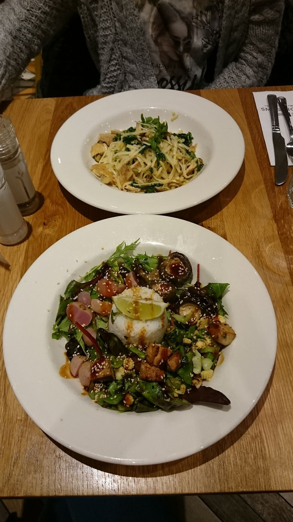 """Photo of Henderson's Vegan  by <a href=""""/members/profile/Layra"""">Layra</a> <br/>Mushroom linguine and teriyaki bowl <br/> October 24, 2017  - <a href='/contact/abuse/image/59873/318259'>Report</a>"""