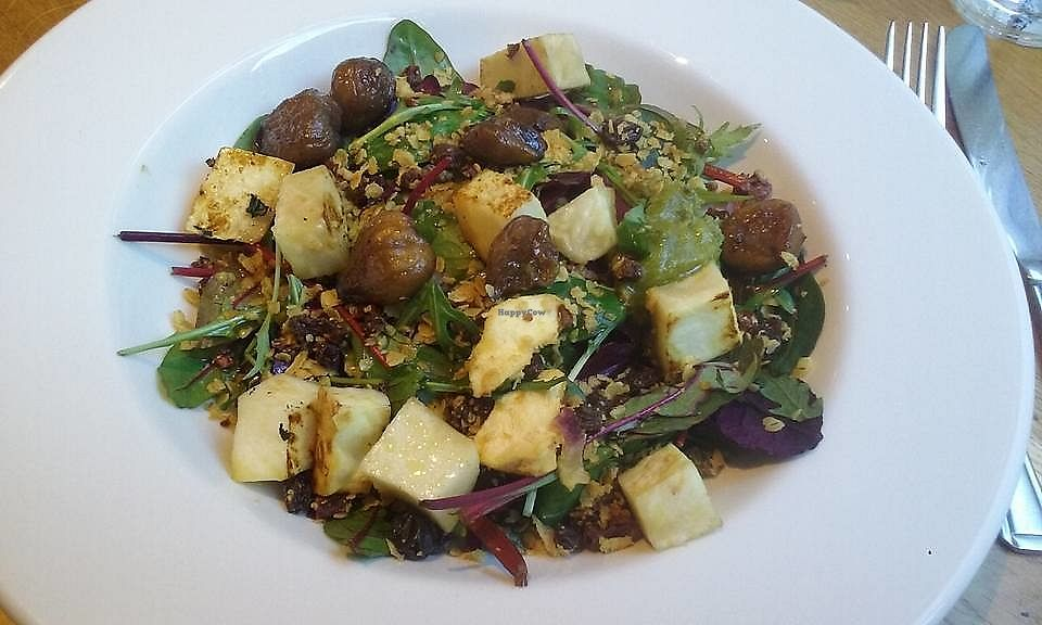 """Photo of Henderson's Vegan  by <a href=""""/members/profile/MaureenVSI"""">MaureenVSI</a> <br/>Chestnut  and  celeriac salad. Absolutely gorgeous <br/> February 7, 2018  - <a href='/contact/abuse/image/59873/356113'>Report</a>"""