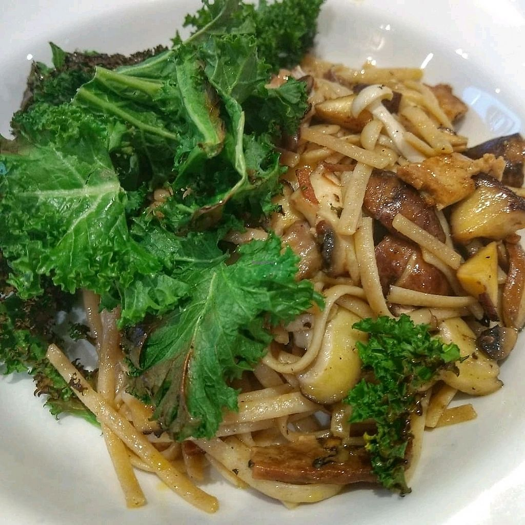 """Photo of Henderson's Vegan  by <a href=""""/members/profile/craigmc"""">craigmc</a> <br/>mushroom and kale linguine <br/> March 24, 2018  - <a href='/contact/abuse/image/59873/375401'>Report</a>"""