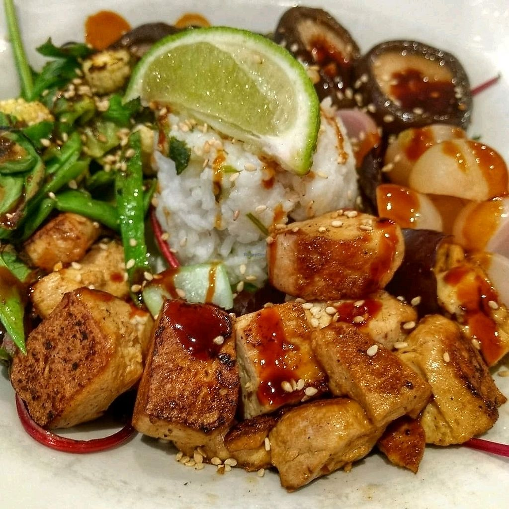 """Photo of Henderson's Vegan  by <a href=""""/members/profile/craigmc"""">craigmc</a> <br/>tofu teriyaki bowl <br/> March 24, 2018  - <a href='/contact/abuse/image/59873/375402'>Report</a>"""