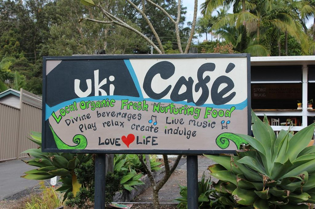 """Photo of Uki Cafe  by <a href=""""/members/profile/Corey%20Fisher%2014"""">Corey Fisher 14</a> <br/>Front Sign <br/> June 27, 2015  - <a href='/contact/abuse/image/59874/107436'>Report</a>"""