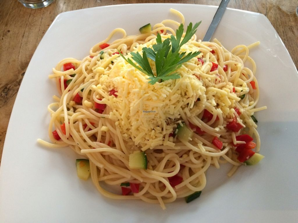 "Photo of Dellago  by <a href=""/members/profile/ottofirn"">ottofirn</a> <br/>spaghetti with vegan cheese  <br/> September 22, 2015  - <a href='/contact/abuse/image/59888/118738'>Report</a>"