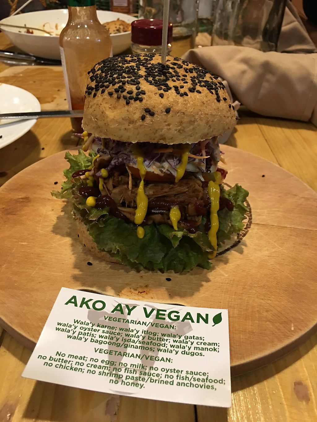 """Photo of The Vegan Dinosaur  by <a href=""""/members/profile/Durianrider"""">Durianrider</a> <br/>Vegan burger <br/> October 11, 2017  - <a href='/contact/abuse/image/59921/314190'>Report</a>"""