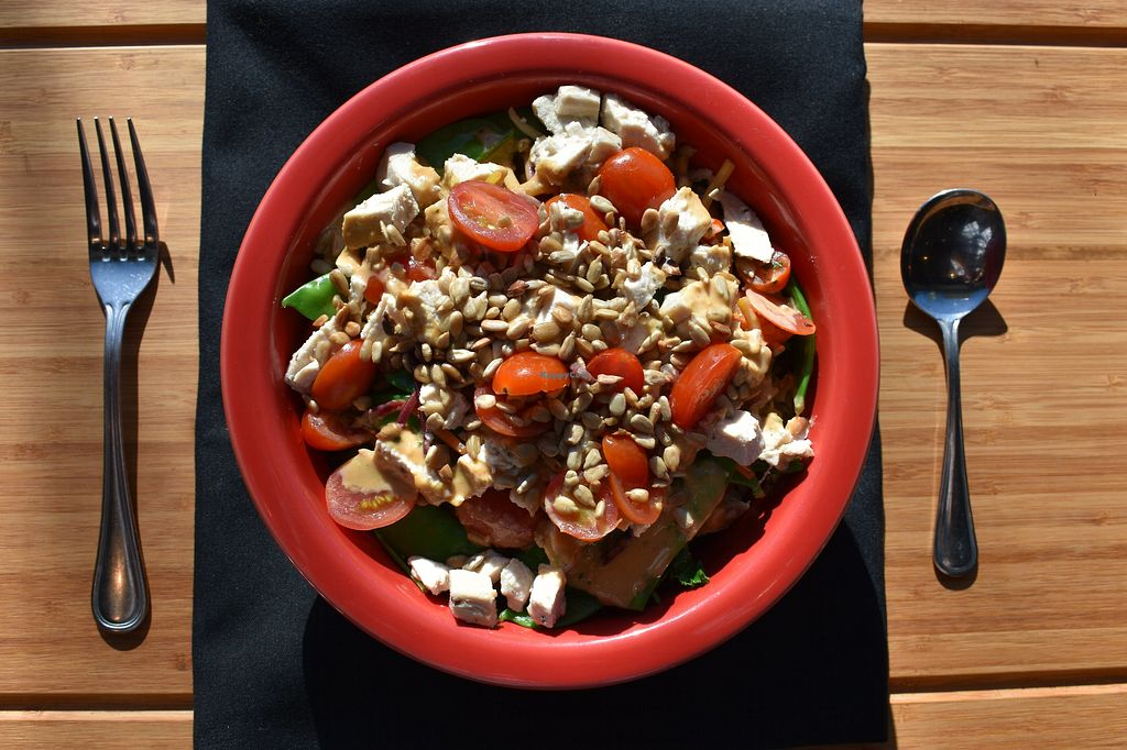 """Photo of Live Juice  by <a href=""""/members/profile/LiveJuiceNH"""">LiveJuiceNH</a> <br/>Vegan Thai Peanut Bowl <br/> May 10, 2018  - <a href='/contact/abuse/image/59922/398063'>Report</a>"""