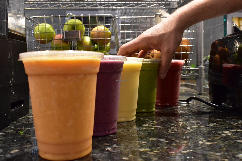 """Photo of Live Juice  by <a href=""""/members/profile/LiveJuiceNH"""">LiveJuiceNH</a> <br/>Summertime smoothies. Can be made with Almond, Coconut, or Oat Milk! <br/> May 10, 2018  - <a href='/contact/abuse/image/59922/398064'>Report</a>"""