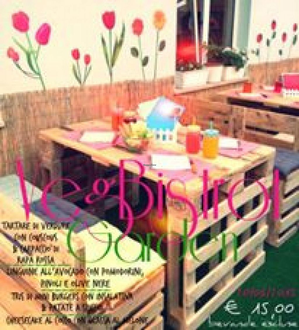 """Photo of VegBistrot  by <a href=""""/members/profile/RacheleTarsi"""">RacheleTarsi</a> <br/>VegBistrot Garden <br/> June 25, 2015  - <a href='/contact/abuse/image/59924/107269'>Report</a>"""