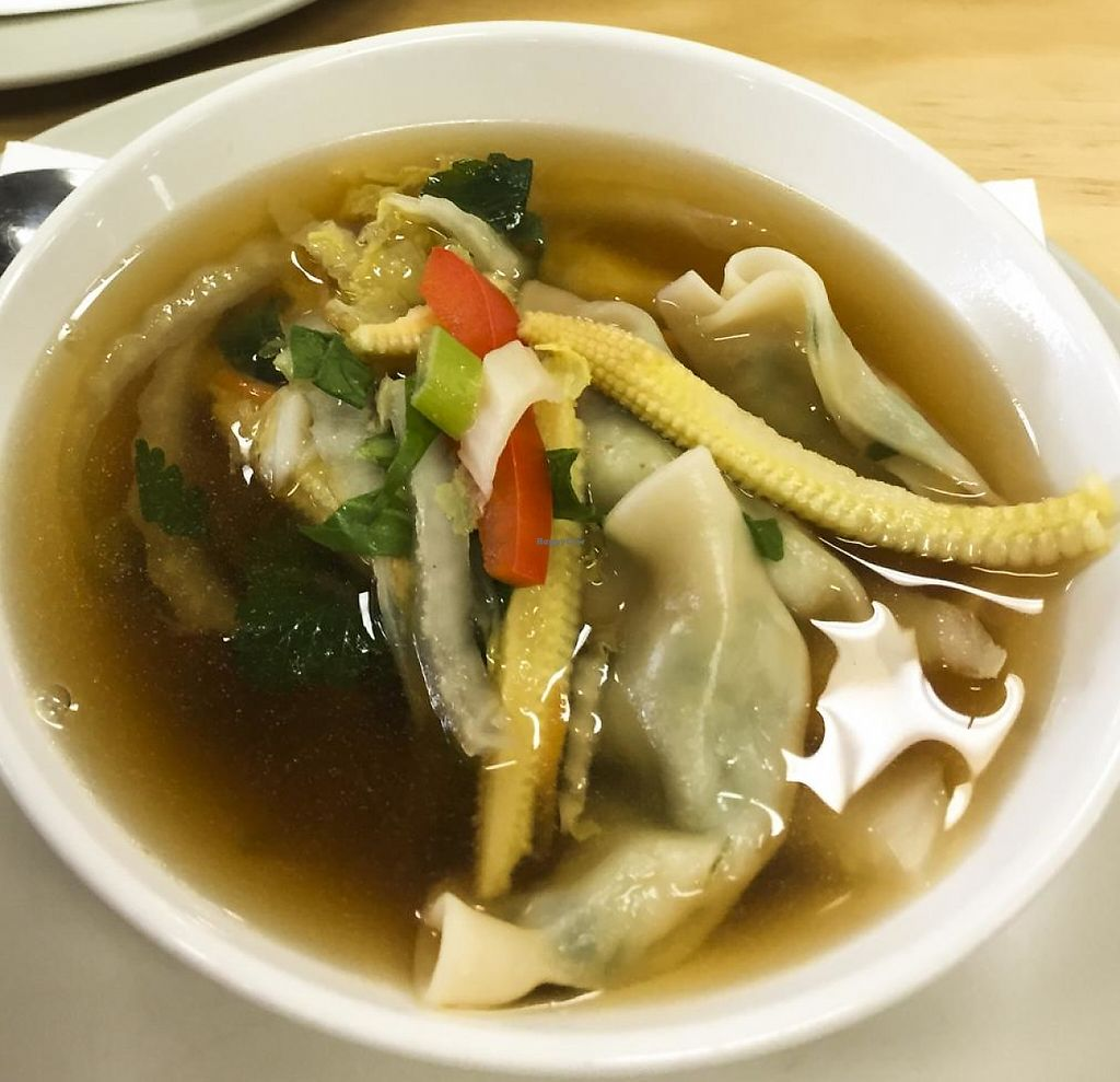 "Photo of Papa Bear  by <a href=""/members/profile/karlaess"">karlaess</a> <br/>Roast vegetable salad & wonton soup <br/> July 8, 2015  - <a href='/contact/abuse/image/59942/256463'>Report</a>"