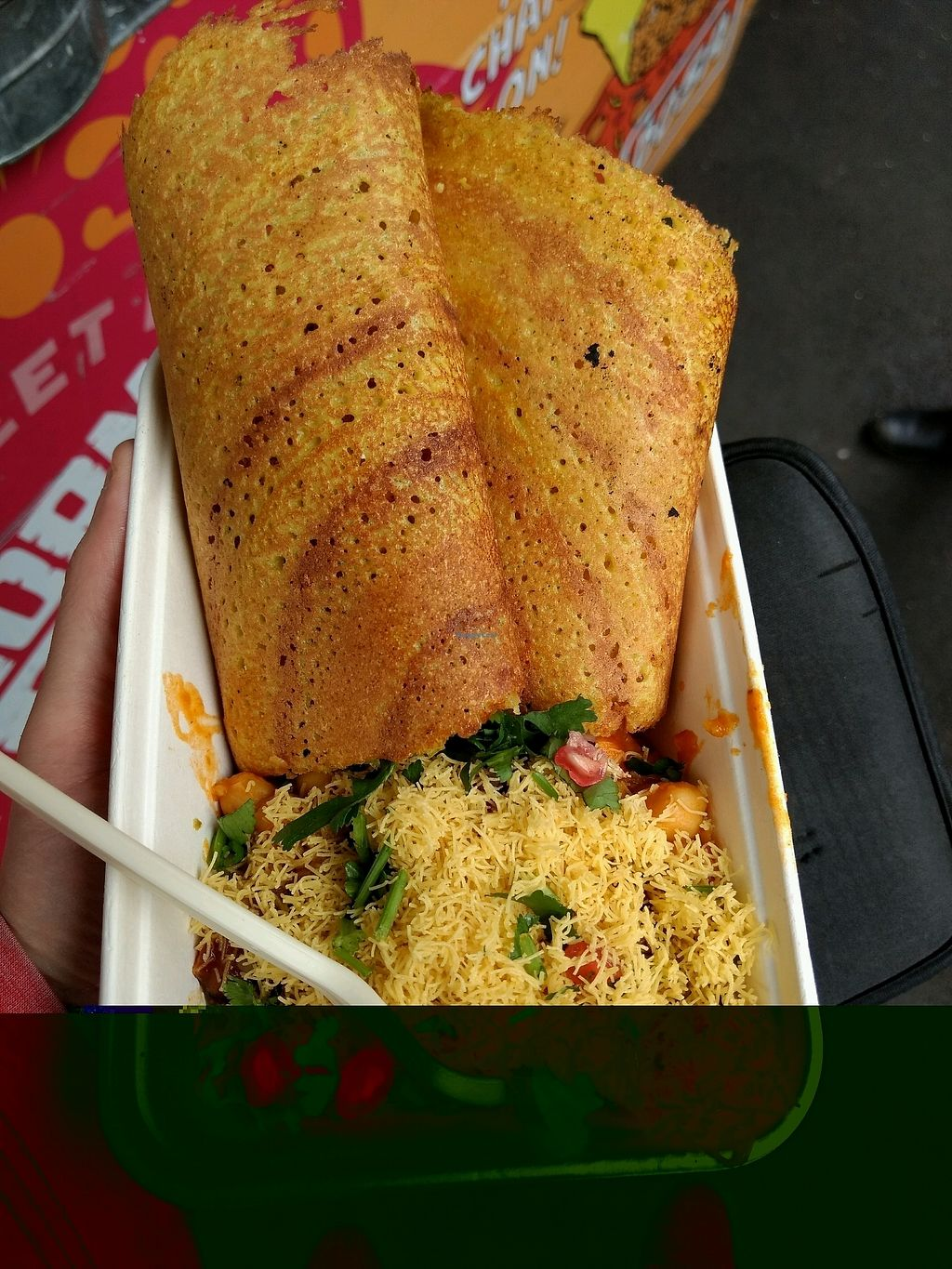 """Photo of Horn Ok Please - Food Stall  by <a href=""""/members/profile/craigmc"""">craigmc</a> <br/>dosa <br/> October 17, 2017  - <a href='/contact/abuse/image/59959/316165'>Report</a>"""