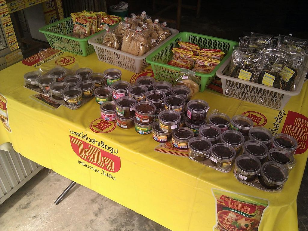 "Photo of Vegetarian Food on Tambon Wiang  by <a href=""/members/profile/Vegfox"">Vegfox</a> <br/>These are some of the goodies that are sold in the shop <br/> June 28, 2015  - <a href='/contact/abuse/image/59999/107580'>Report</a>"