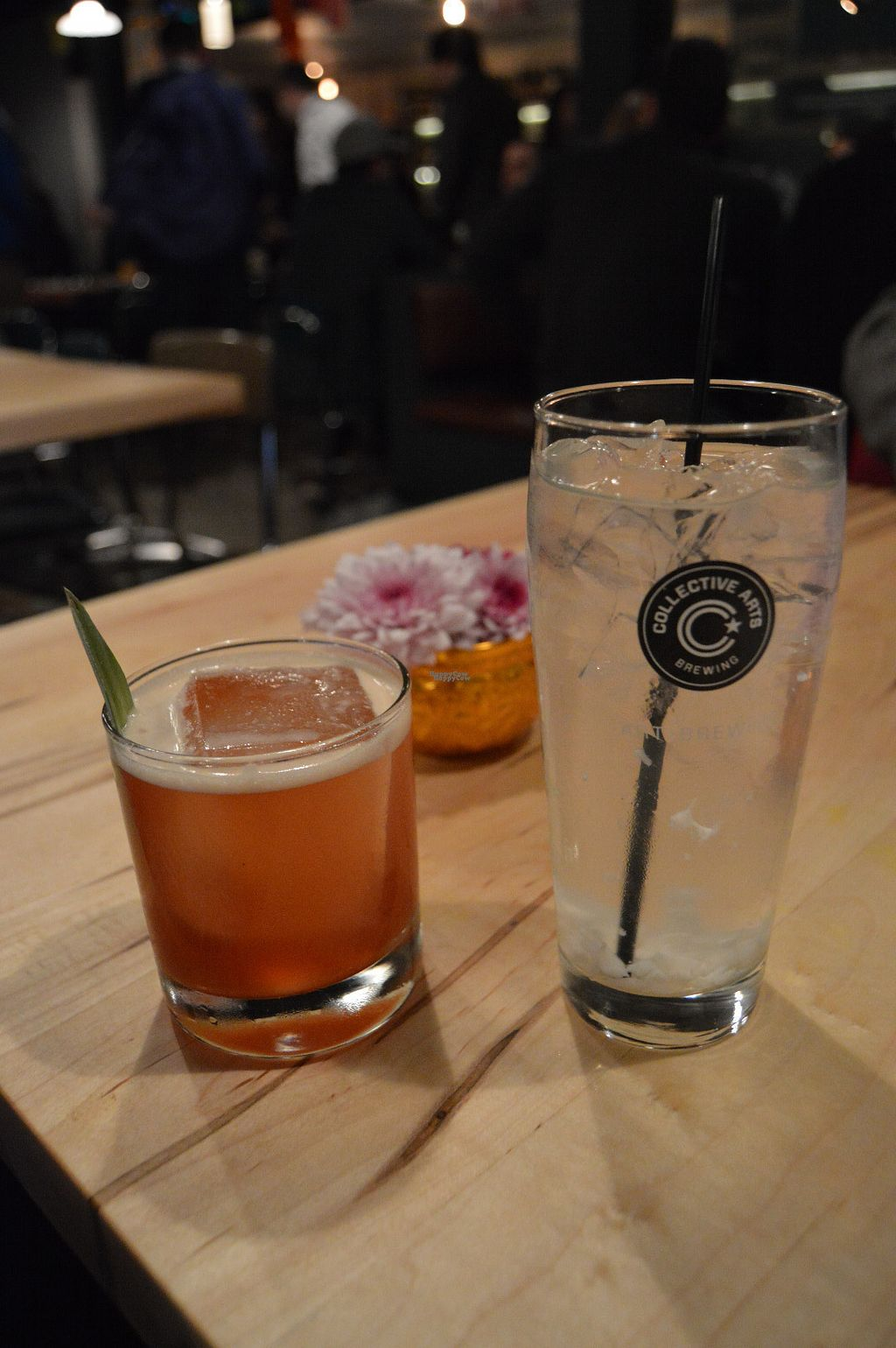 """Photo of Sabai Sabai  by <a href=""""/members/profile/Vegan%20GiGi"""">Vegan GiGi</a> <br/>Wagtails & Pipits cocktail (left) and roasted coconut water (right). Yum! <br/> October 21, 2016  - <a href='/contact/abuse/image/60010/183450'>Report</a>"""