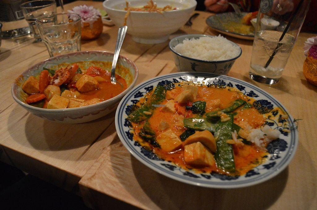"Photo of Sabai Sabai  by <a href=""/members/profile/Vegan%20GiGi"">Vegan GiGi</a> <br/>Vegan massaman curry (left) and panang curry (right) <br/> October 21, 2016  - <a href='/contact/abuse/image/60010/183451'>Report</a>"