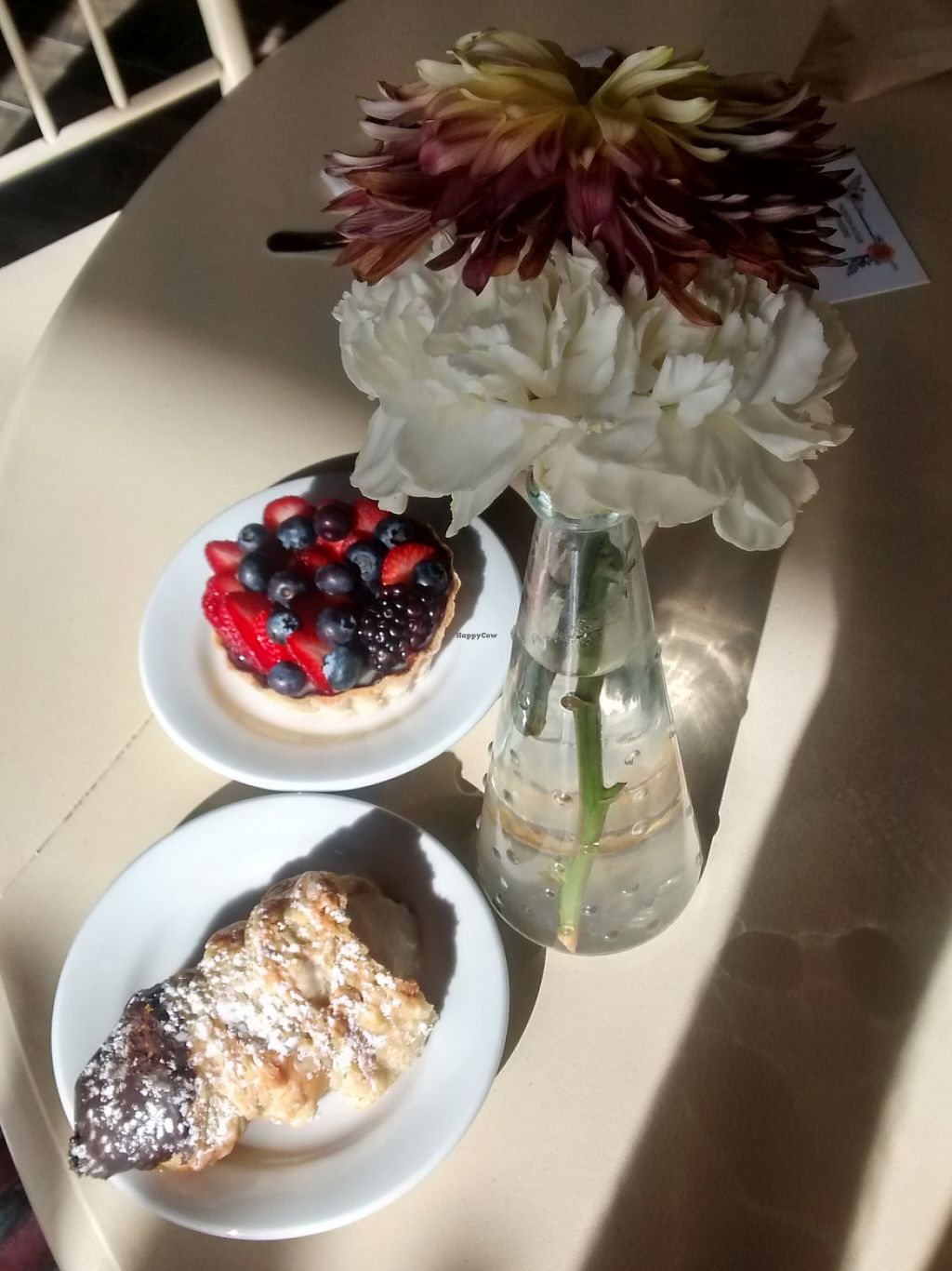 """Photo of Passion Flour Patisserie  by <a href=""""/members/profile/veganyoginimama"""">veganyoginimama</a> <br/>Picture of the french horn and fruit tart at Passion Flour Patisserie <br/> November 9, 2015  - <a href='/contact/abuse/image/60018/230620'>Report</a>"""