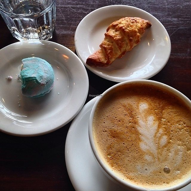 """Photo of Passion Flour Patisserie  by <a href=""""/members/profile/SushiSauce"""">SushiSauce</a> <br/>Pumpkin spice latte, cotton candy macaron, and croissant <br/> October 10, 2017  - <a href='/contact/abuse/image/60018/313804'>Report</a>"""
