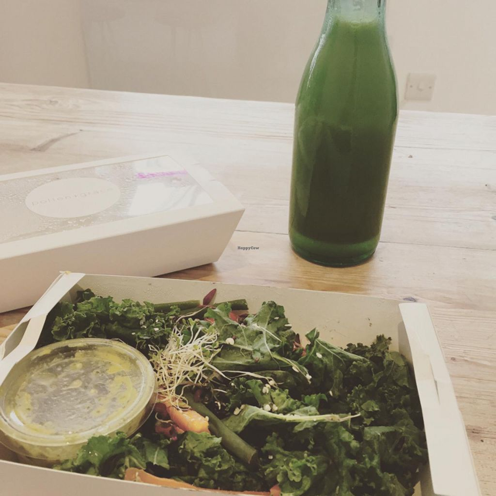 """Photo of So Pure  by <a href=""""/members/profile/Marie88"""">Marie88</a> <br/>kale salad box and juice <br/> June 29, 2015  - <a href='/contact/abuse/image/60036/107647'>Report</a>"""