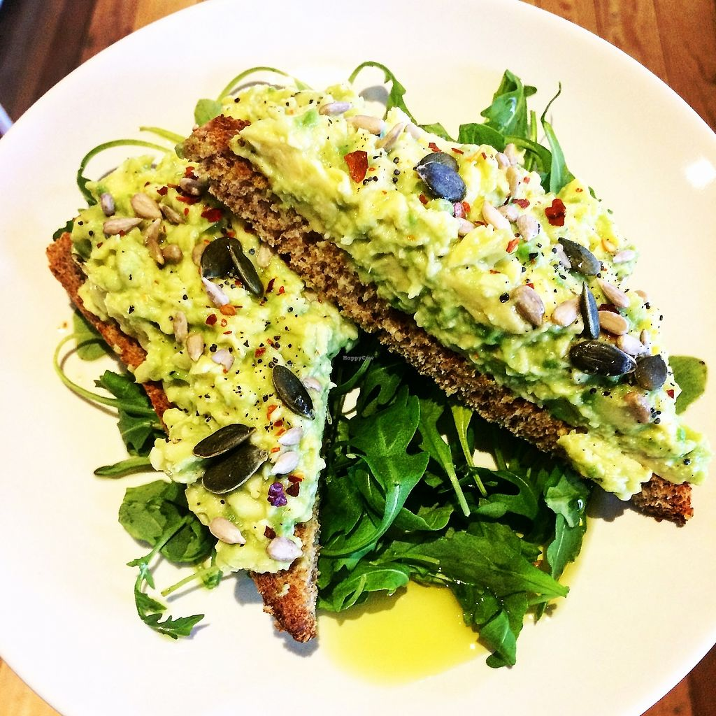"""Photo of So Pure  by <a href=""""/members/profile/SoPure"""">SoPure</a> <br/>SO Purebred avocado on gf toast <br/> October 10, 2017  - <a href='/contact/abuse/image/60036/314008'>Report</a>"""