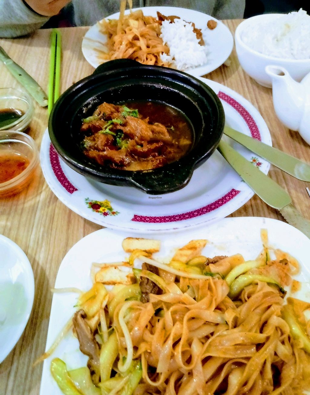 "Photo of Vege Saveurs  by <a href=""/members/profile/FTK"">FTK</a> <br/>They do mock meats very well: here the caramalized ""chicken"" and the vietnamese noodles <br/> March 2, 2018  - <a href='/contact/abuse/image/60048/365898'>Report</a>"