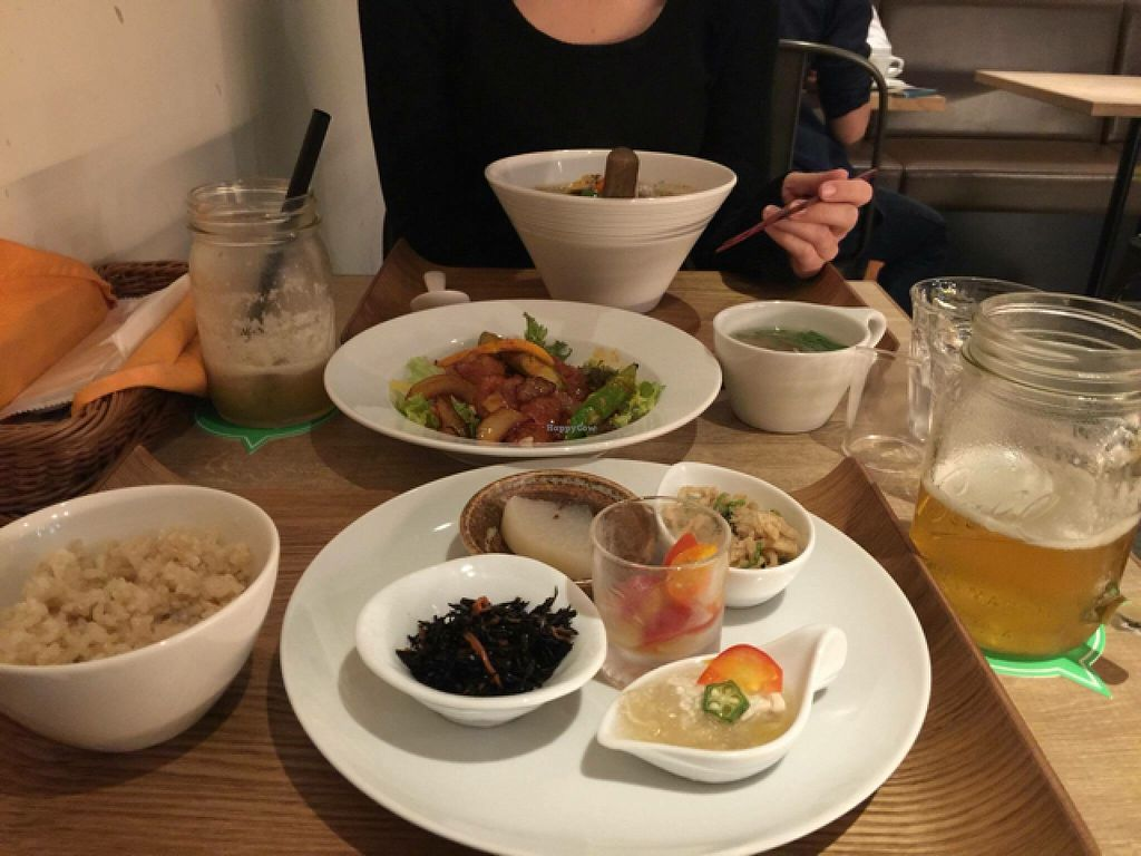 """Photo of CLOSED: Cafe the 6BT  by <a href=""""/members/profile/Brinielou"""">Brinielou</a> <br/>Chilli soy meat dinner set meal. Lemon Smoothies. Miso Ramen <br/> May 7, 2016  - <a href='/contact/abuse/image/60065/147988'>Report</a>"""