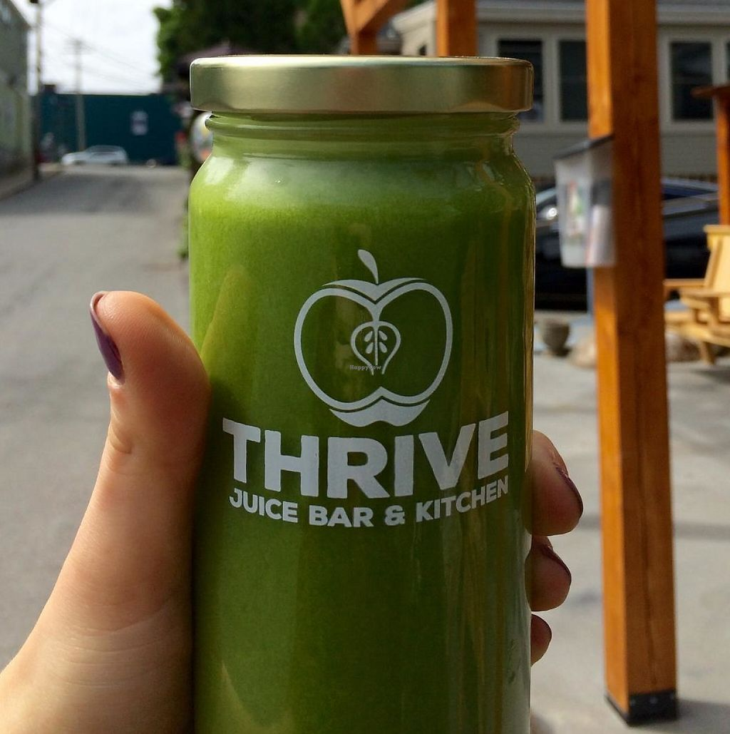 """Photo of Thrive Juice Bar and Kitchen  by <a href=""""/members/profile/VeganTini"""">VeganTini</a> <br/>The Soothe Juice <br/> July 2, 2015  - <a href='/contact/abuse/image/60077/201457'>Report</a>"""