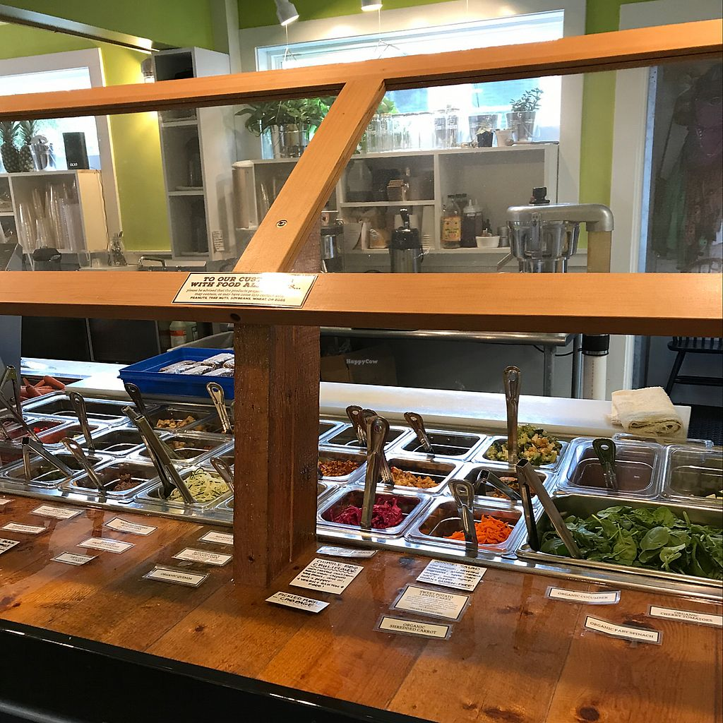 """Photo of Thrive Juice Bar and Kitchen  by <a href=""""/members/profile/RhondaHowerton"""">RhondaHowerton</a> <br/>awesome salad bar <br/> June 17, 2017  - <a href='/contact/abuse/image/60077/270039'>Report</a>"""